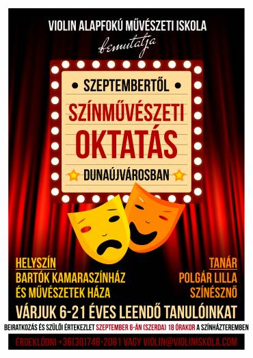 Szeptembertől színművészeti oktatás Dunaújvárosban!