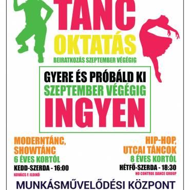 Ingyenesen kipróbálható táncok szeptember végéig Dunaújvárosban!